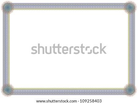 empty guilloche frame - stock photo
