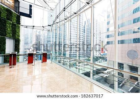 empty hall in the modern office building.  - stock photo