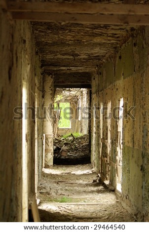 Empty hallway - stock photo