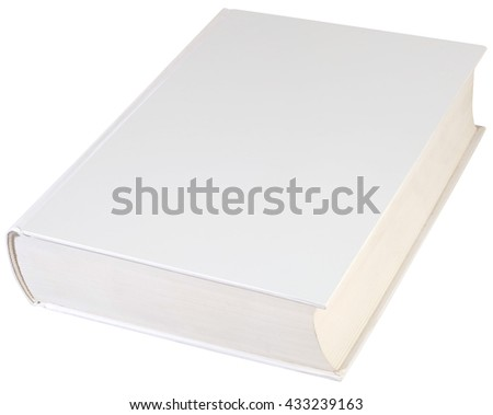 Empty Hard book Cover Isolated with Clipping path - stock photo
