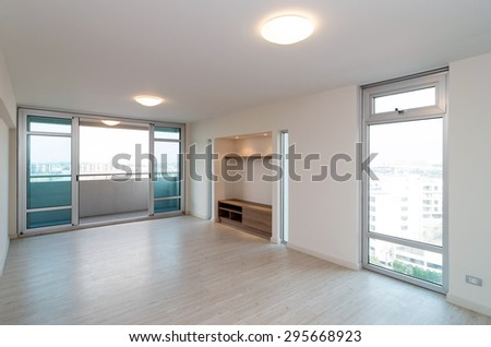 Empty Interior Living Room in a new apartment - stock photo