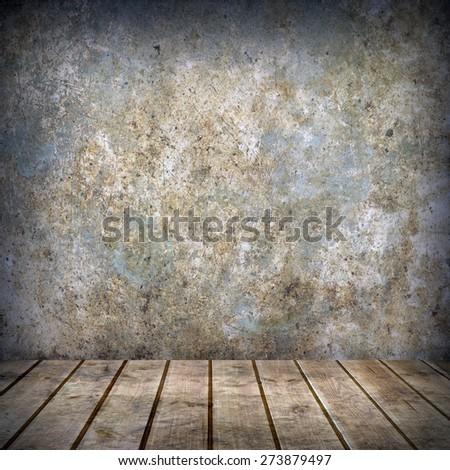 empty interior of vintage room - stock photo