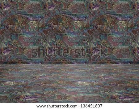 Empty interior Room. Digital background for studio photographers - stock photo