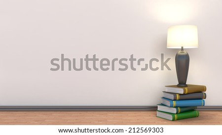empty interior with lamp included - stock photo
