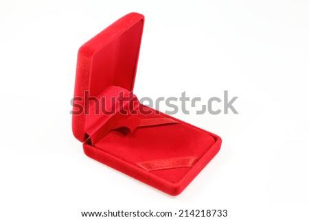 Empty jewell box on white background - stock photo