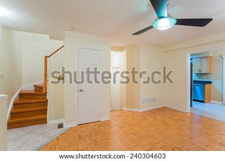 Empty living room interior design - stock photo