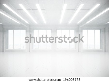 Empty loft space - stock photo