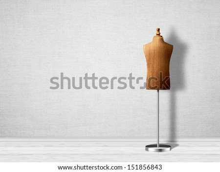Empty mannequin torso template. - stock photo