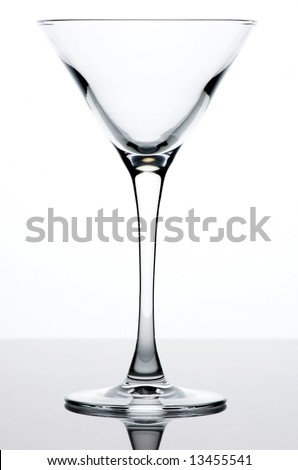Empty martini glass - stock photo