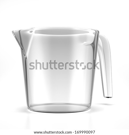 Empty measuring cup - stock photo