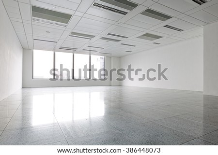 Empty Modern building Office interior  - stock photo