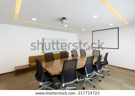 Empty modern conference room - stock photo