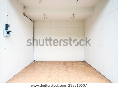 Empty modern shop in the urban plaza. - stock photo