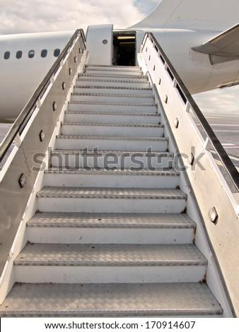 empty moving ramp - stock photo