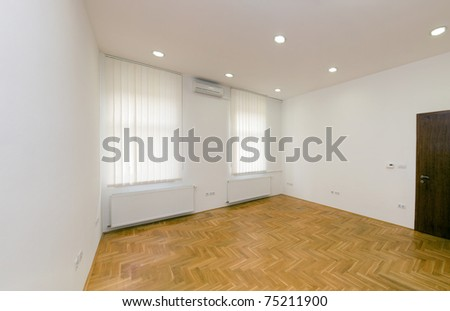 Empty new flat ready for moving in - stock photo