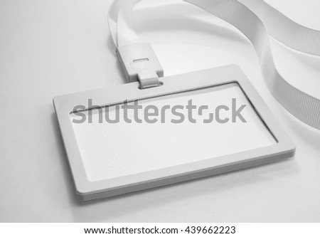 Empty of white Identification card.For create business concept ideas. - stock photo