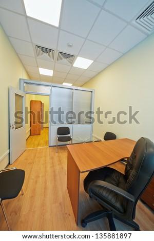 Empty office cabinet with open door - stock photo