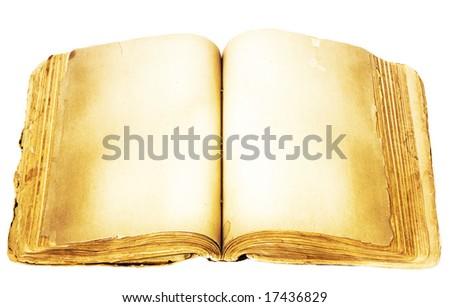 empty open book - stock photo