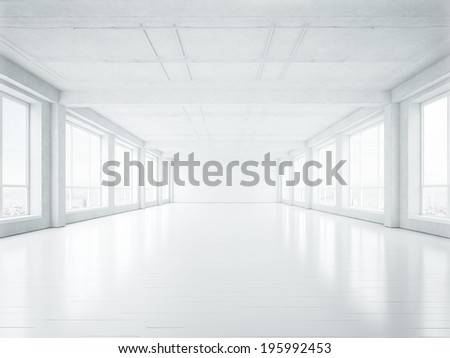 Empty open plan office  - stock photo