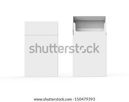 Empty Pack of Cigarettes Isolated - stock photo