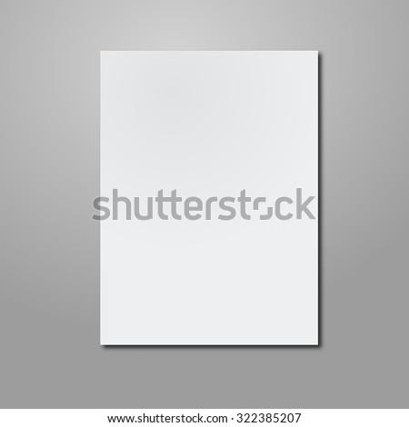 Empty paper sheet. - stock photo