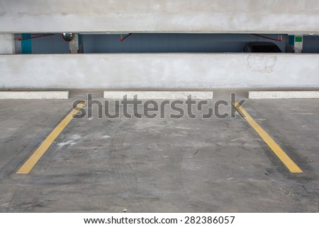 Empty parking area - stock photo