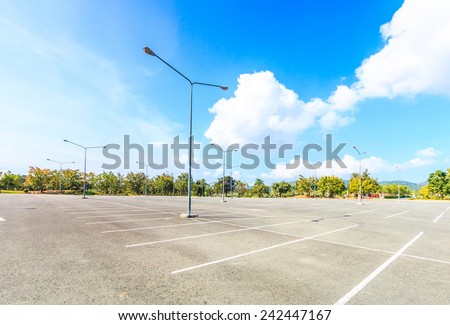 Empty parking lot  - stock photo
