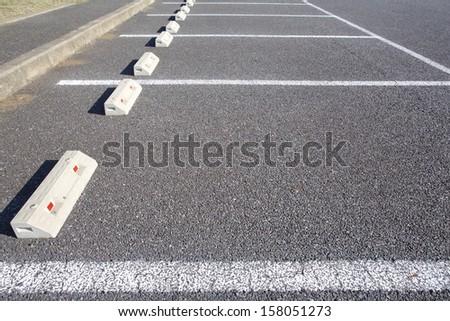 Empty parking lots - stock photo