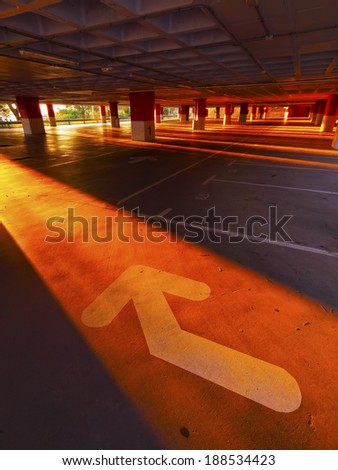 Empty Parking on the top of Tibidabo Mountain in Barcelona, Catalonia, Spain - stock photo