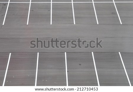 Empty parking space - stock photo