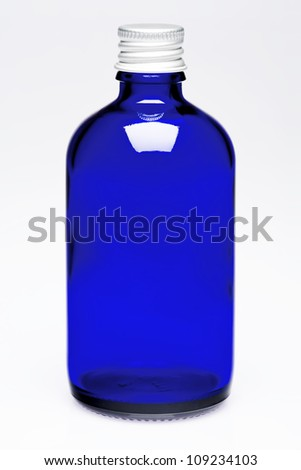Empty Pharmaceutical bottle - stock photo