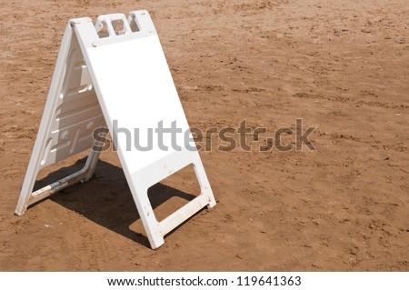 empty plastic board at the beach in Weston-super-Mare, United Kingdom - stock photo