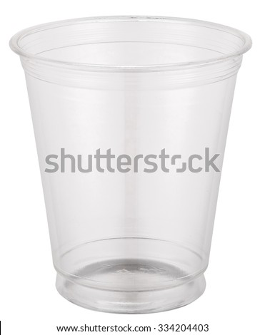 Empty plastic cup. File contains clipping paths. - stock photo