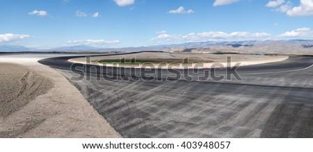Empty racing truck - stock photo