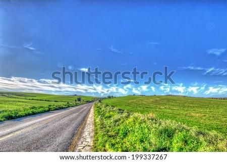 empty road in Sardinia, Italy - stock photo