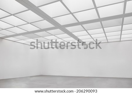 empty room at a gallery - nice background - stock photo