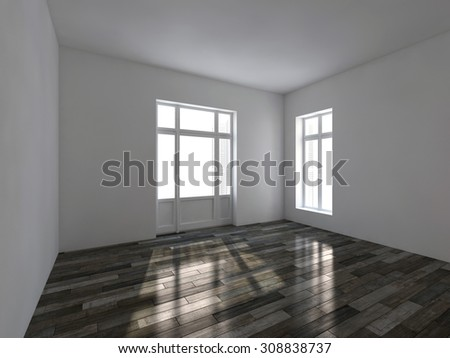 Empty room. 3d render interior - stock photo