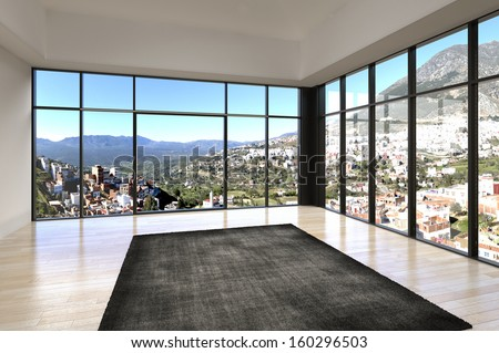 Empty room stock photos images pictures shutterstock for Floor to ceiling windows