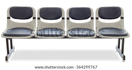 empty seat isolated on white background, clipping path - stock photo