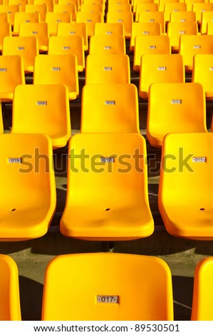 Empty seats - stock photo
