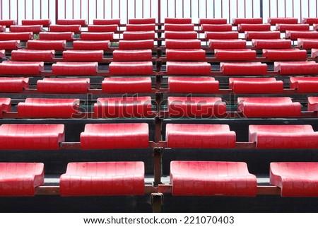 Empty seats in a stadium - stock photo