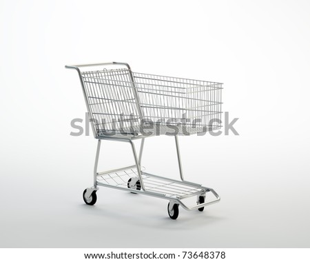 Empty shopping cart - stock photo