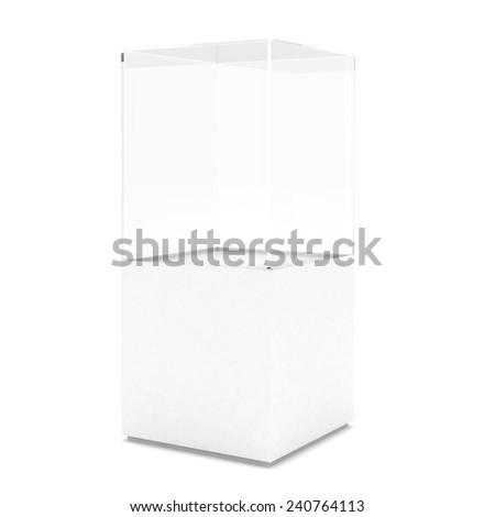 empty showcase - stock photo