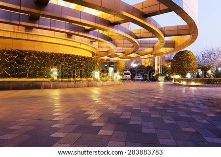 empty space and modern building exterior - stock photo