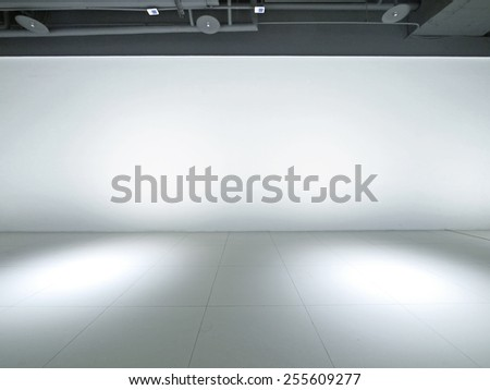 Empty space and white wall - stock photo
