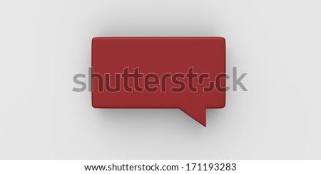 Empty speech bubble - stock photo
