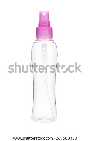 Empty spray bottle isolated on white background - stock photo