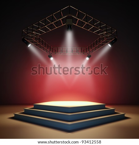 Empty stage. - stock photo