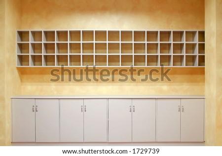 Empty Storage Area (Nurse's Station) - stock photo
