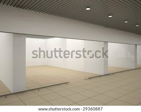 Empty store - stock photo
